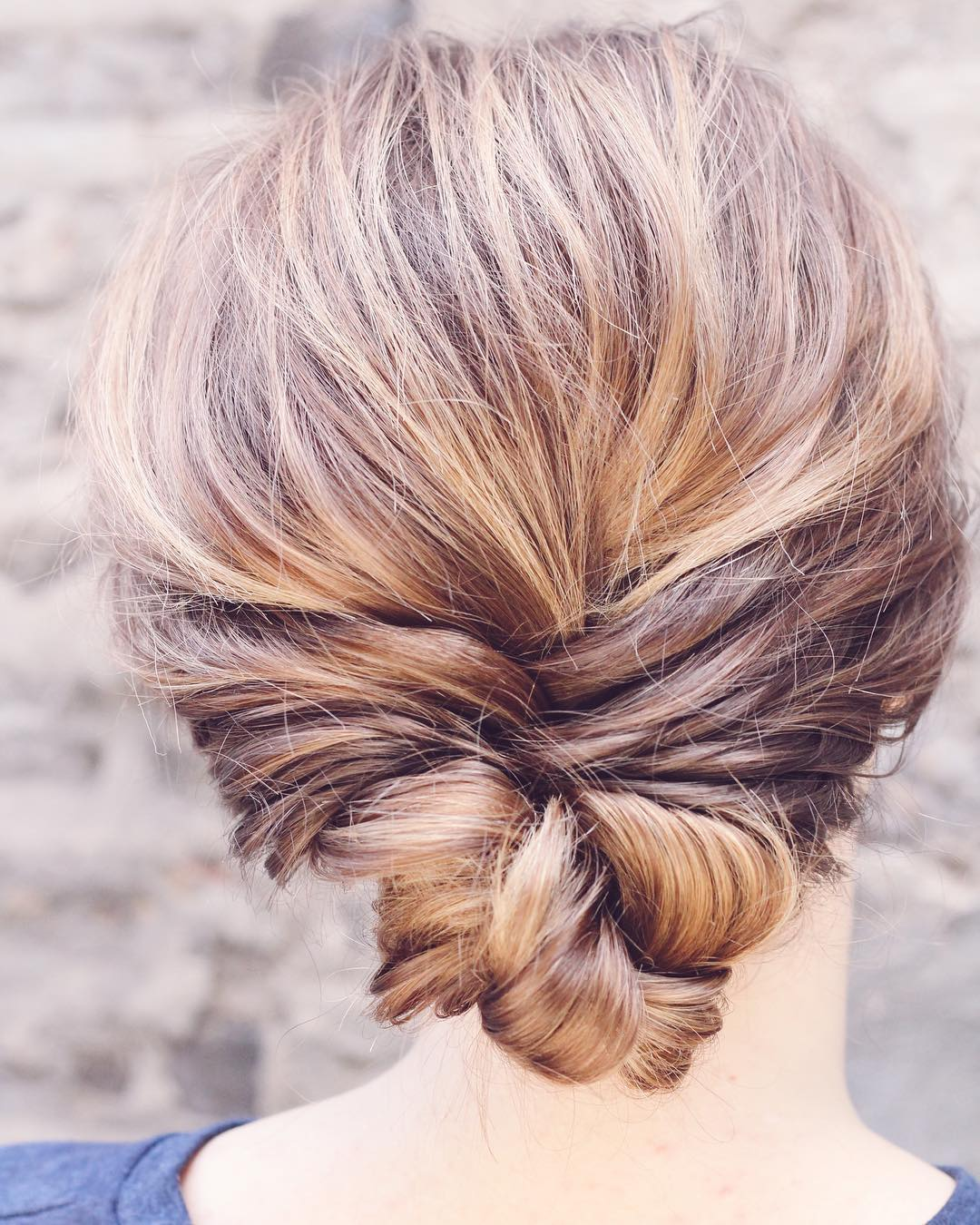 Twisted Knot Updo for Medium Hair