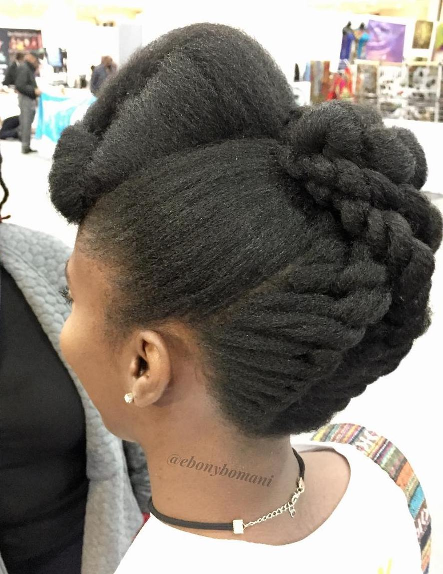 Twist Braids Updo for Natural Hair