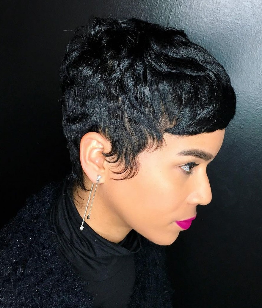 Short Black Pixie Cut