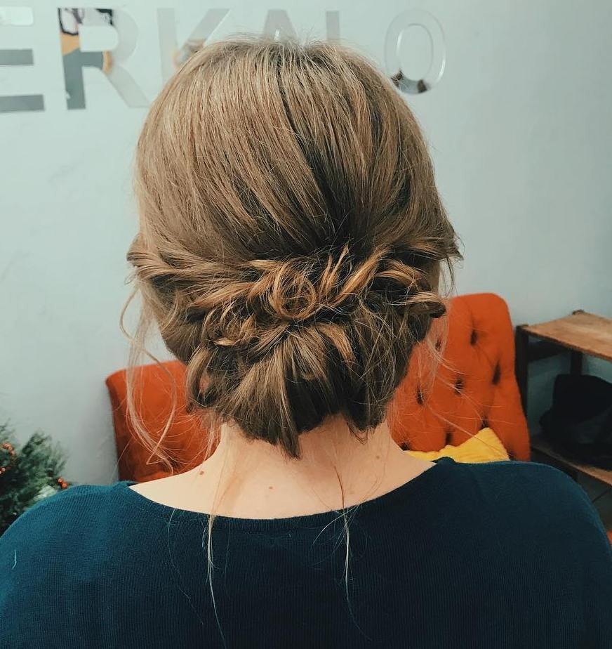 Tuck Updo for Straight Hair