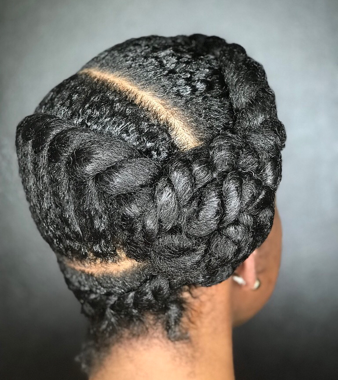 Twist Braids and Side Bun Updo