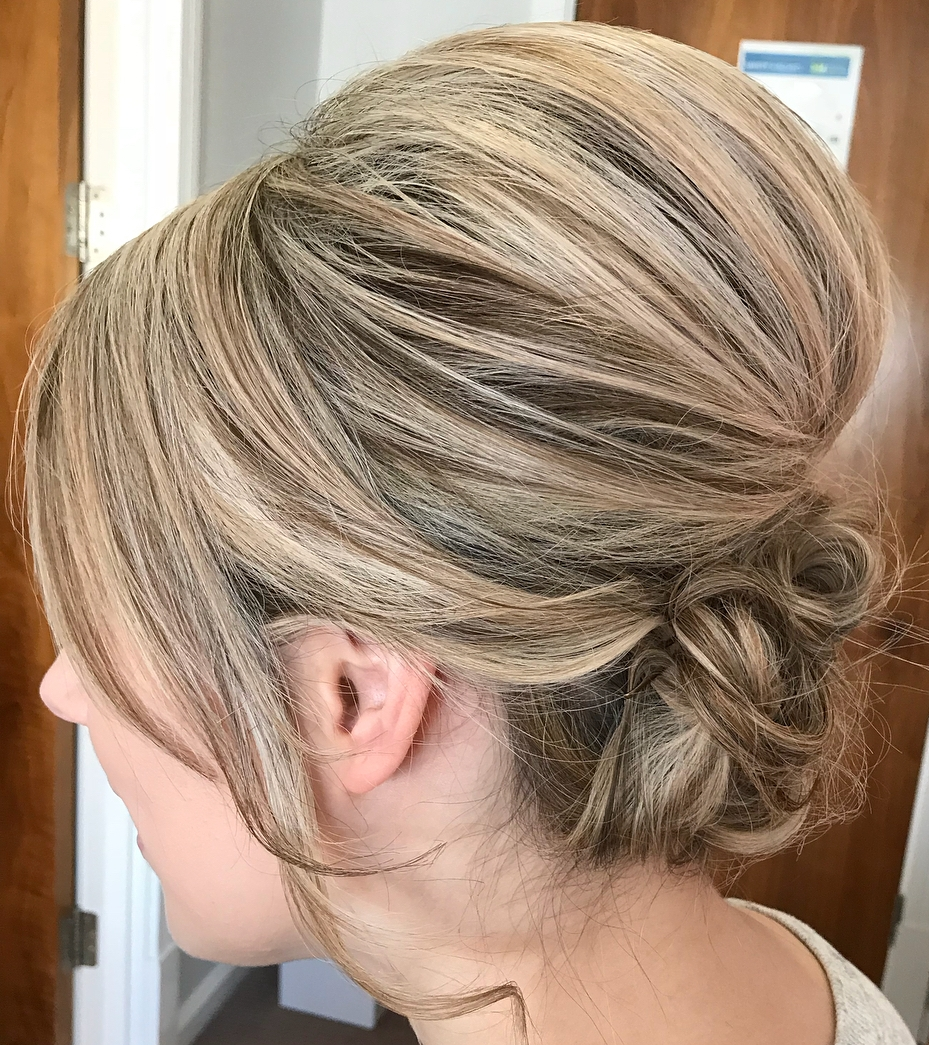 Big Bouffant Updo for Medium Hair