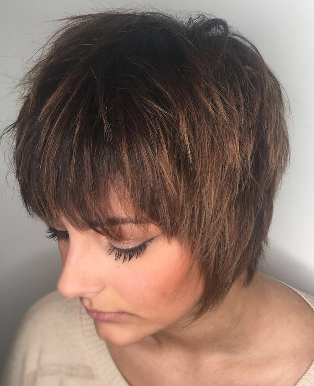 Cute Short Shaggy Hairstyle