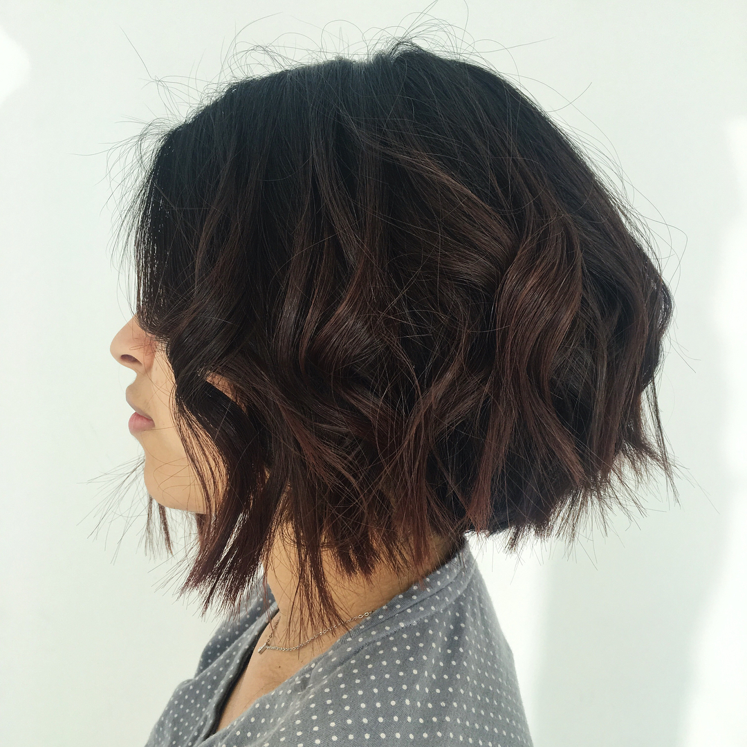 Short Choppy Wavy Bob