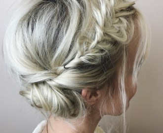 Messy Tuck Updo with a Fishtail
