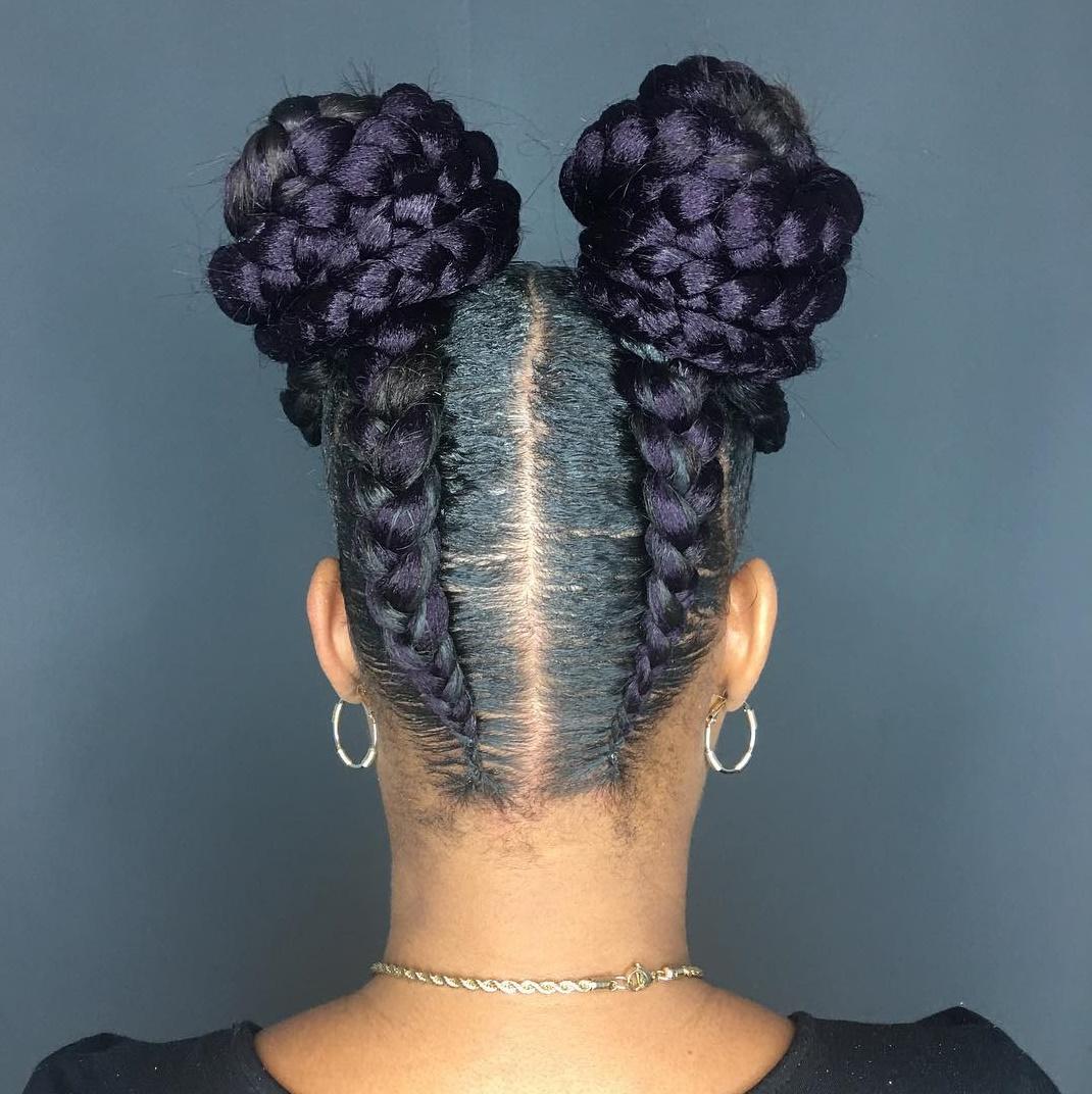 Braids into Buns for African American Hair
