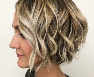 Short Choppy Bronde Bob