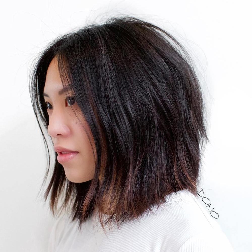 Asian Edgy Textured Bob Haircut