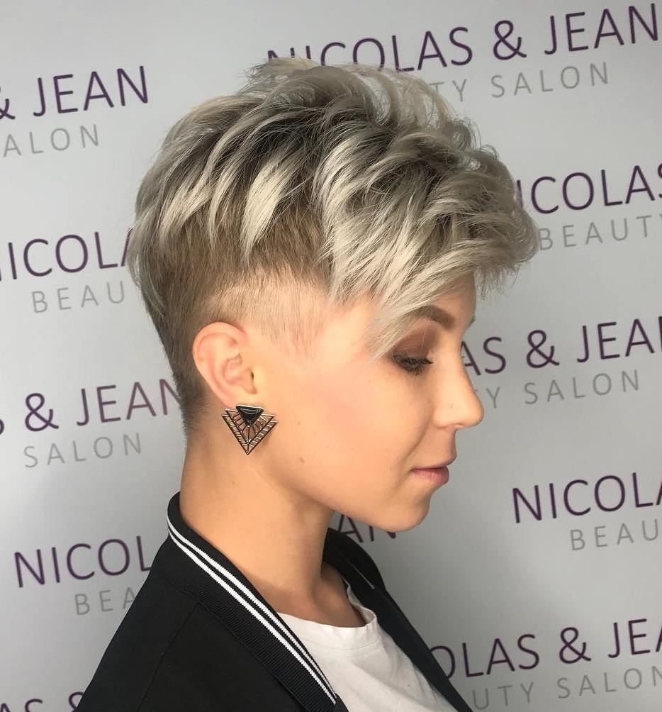 Undercut Pixie with Faded Sideburns