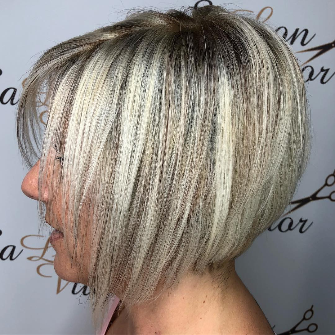 Cute Layered Blonde Bob