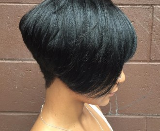 Sleek Black Pixie Bob Cut