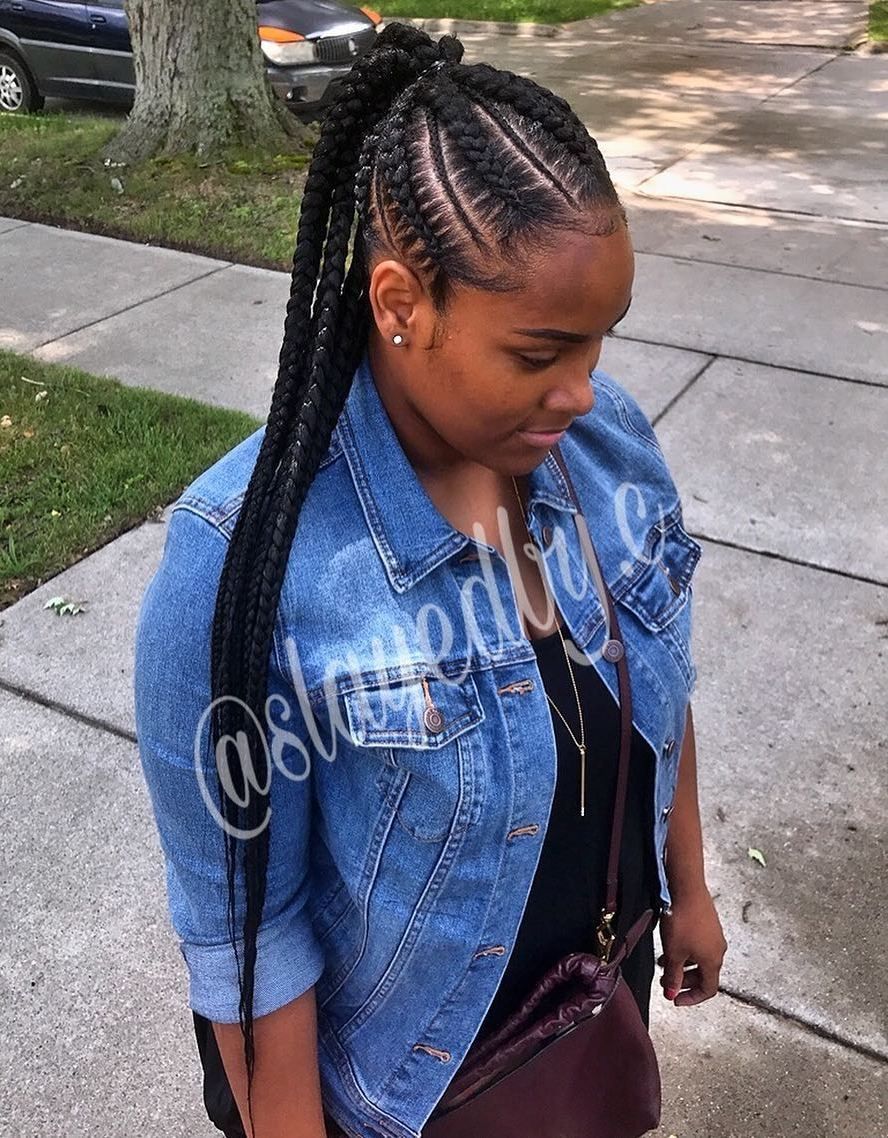 Quick Braided Protective Ponytail