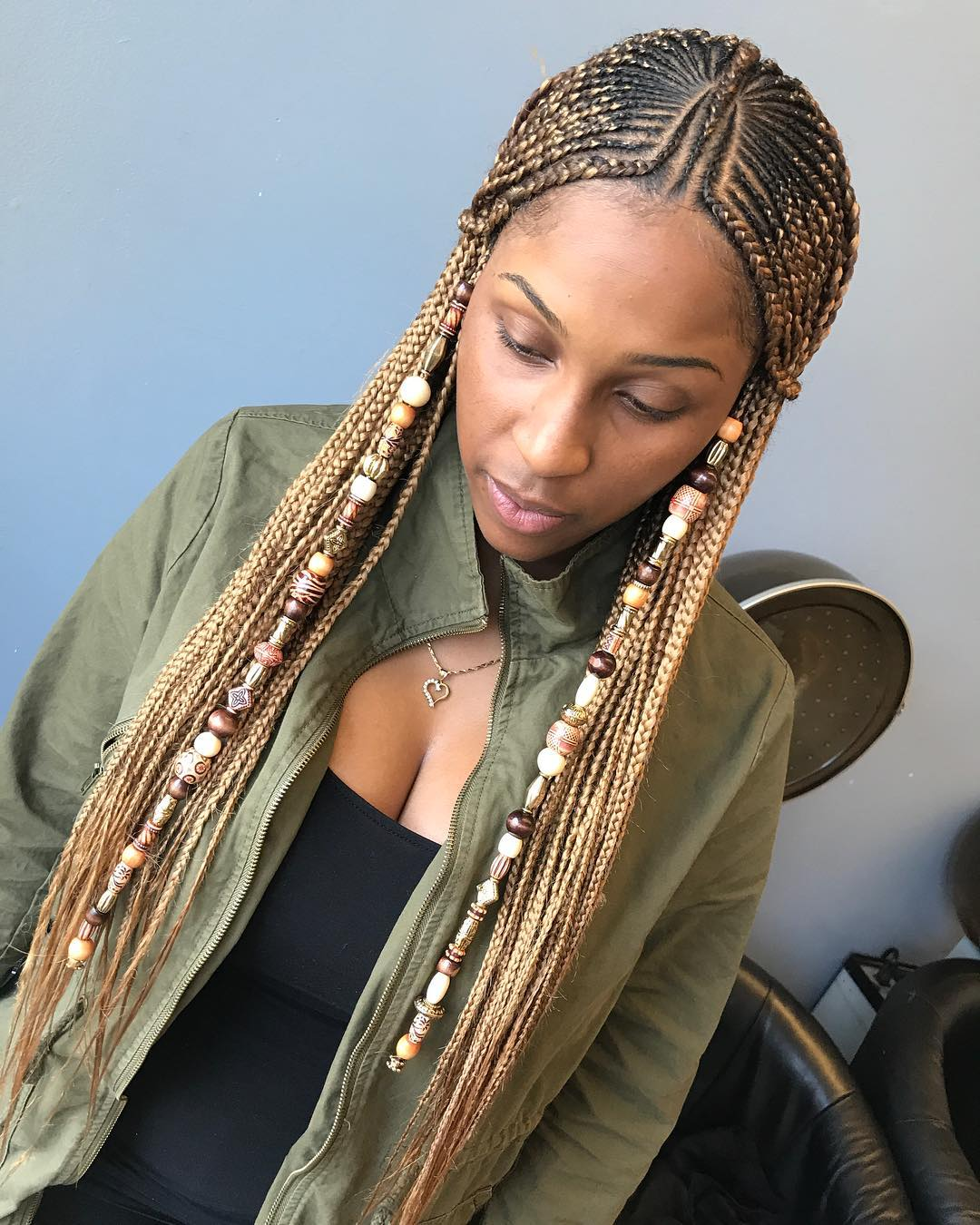 Fulani Braids with Beads