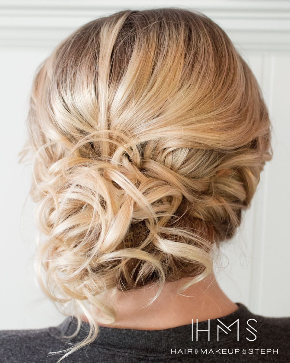 Curly Mid-Length Updo