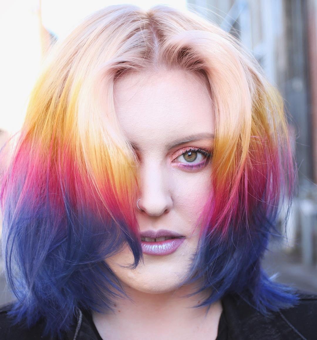 Unnatural Hair Color for Hazel Eyes