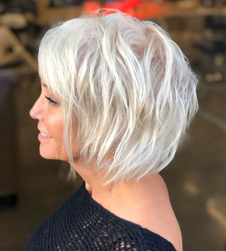 Two-Tier Choppy Bob for Thin Hair