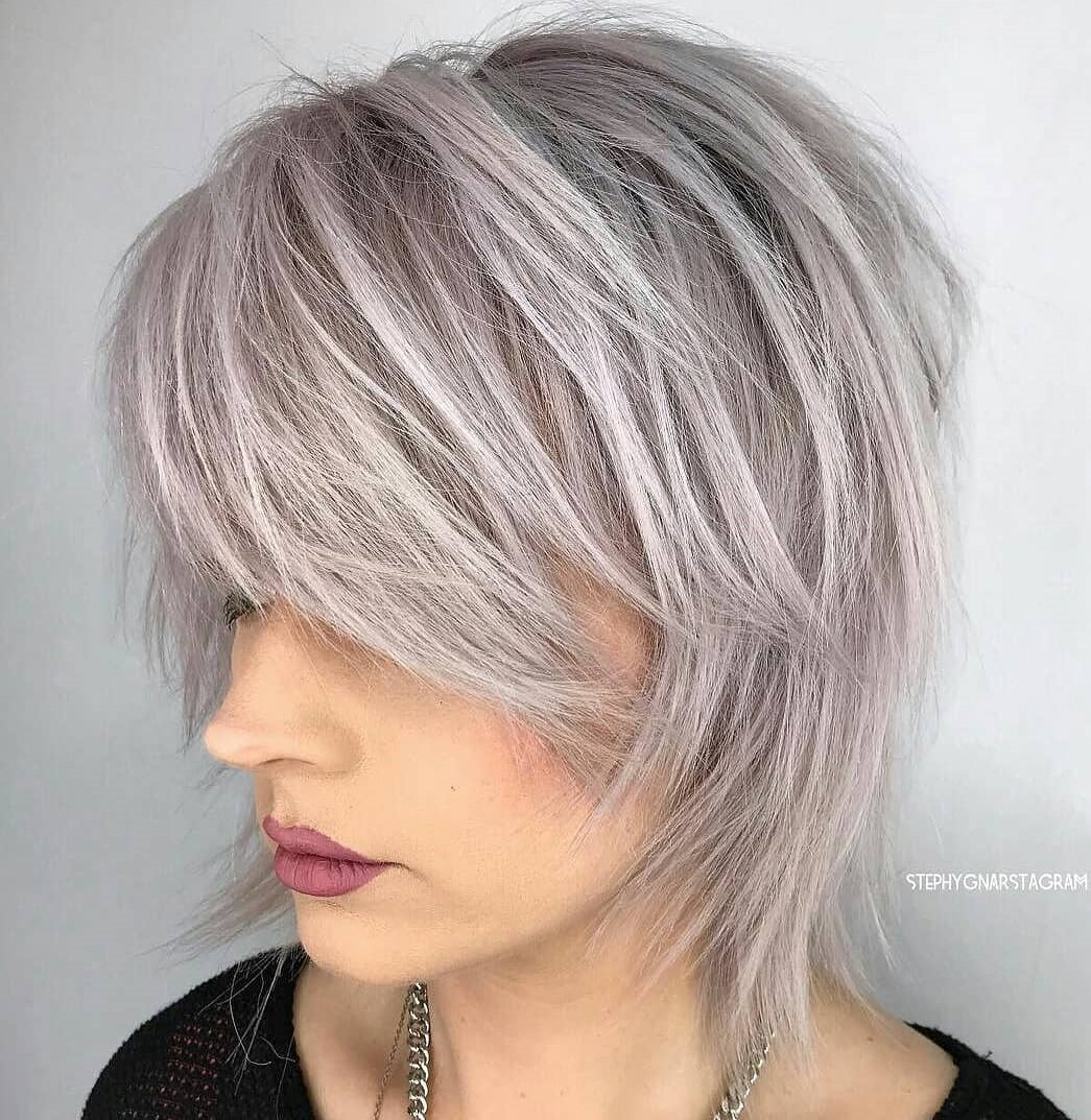 Gray Shag for Thin Hair