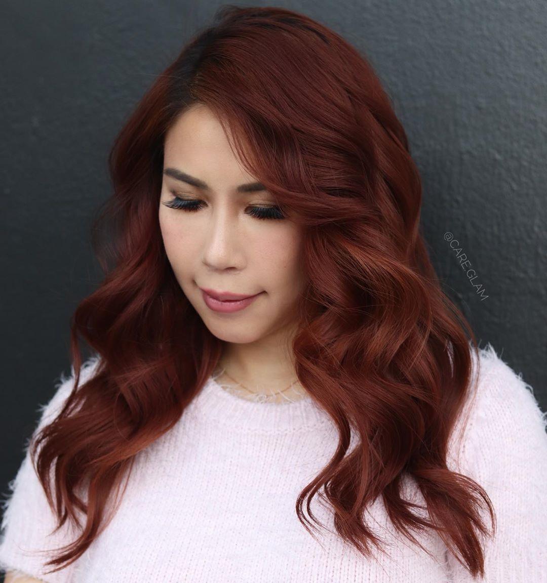 Soft Mahogany Hair Color for Fall