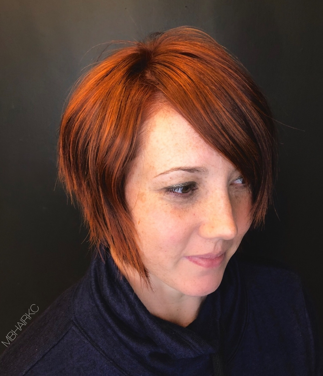 Short Bob for a Round Face