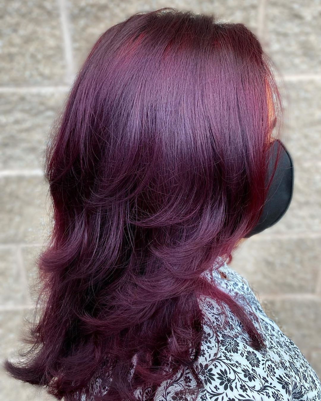 Purple Ombre with Shades of Burgundy