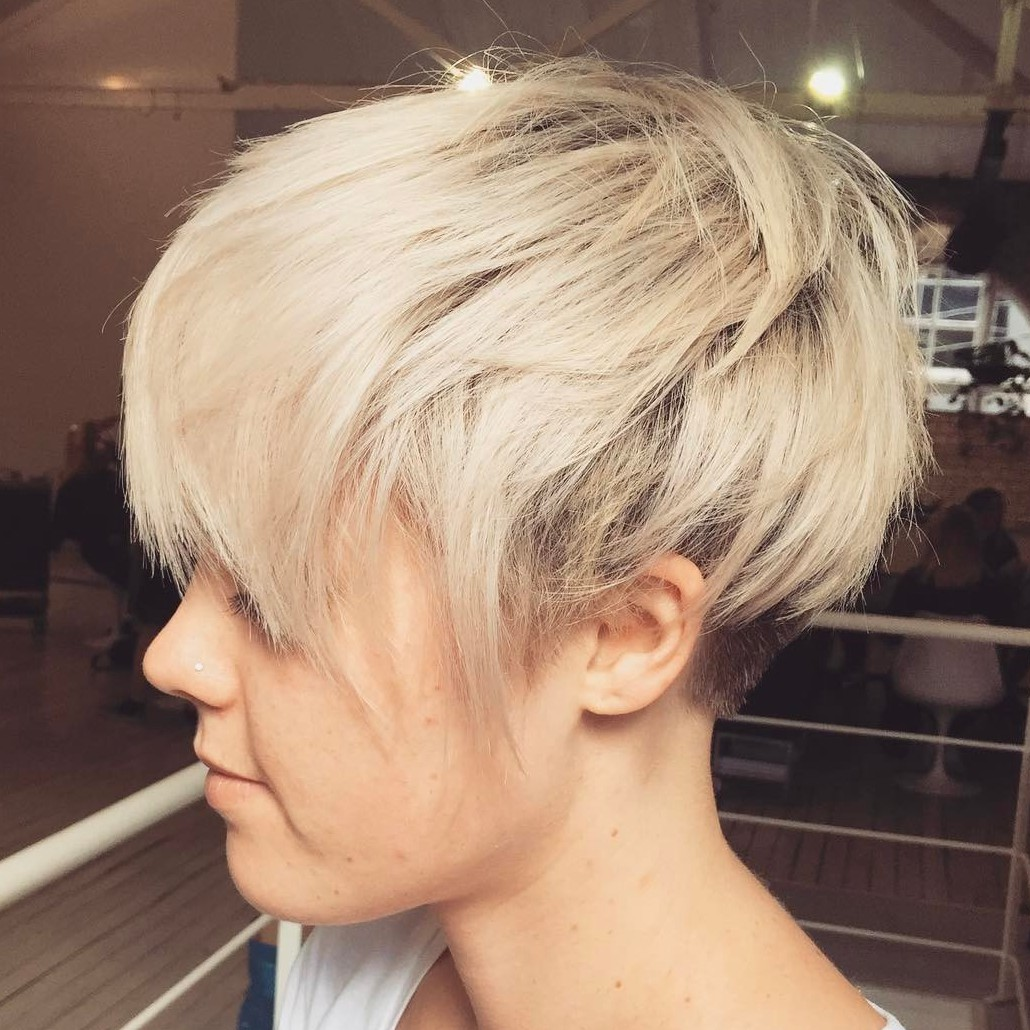 Undercut Pixie with Choppy Ends