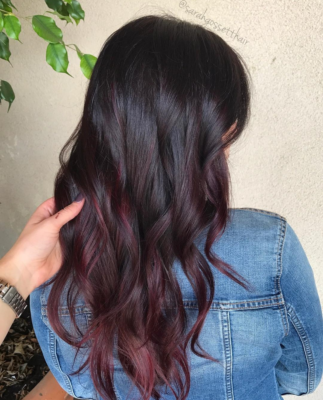 Burgundy Babylights for Dark Hair