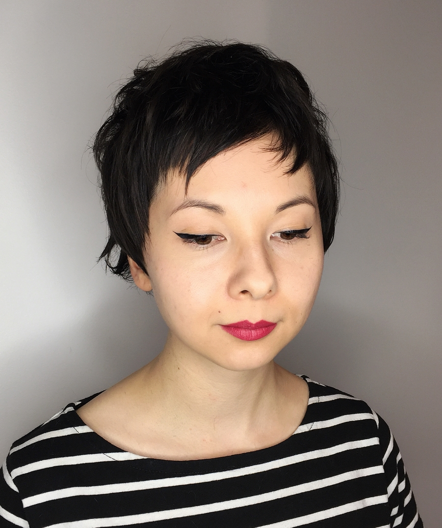 Short Choppy Pixie with Bangs