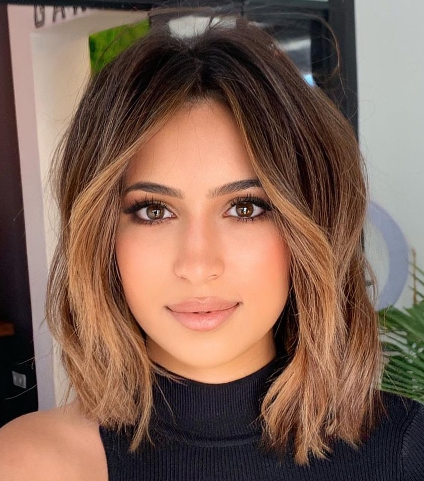Layered Bob Hairstyle for Chubby Cheeks