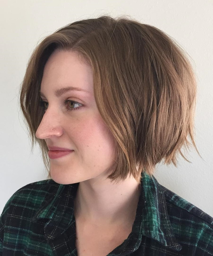 Shaggy Chin-Length Bob Hairstyle