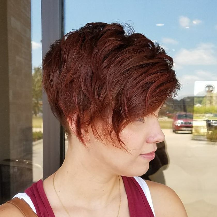 Auburn Pixie with Layers