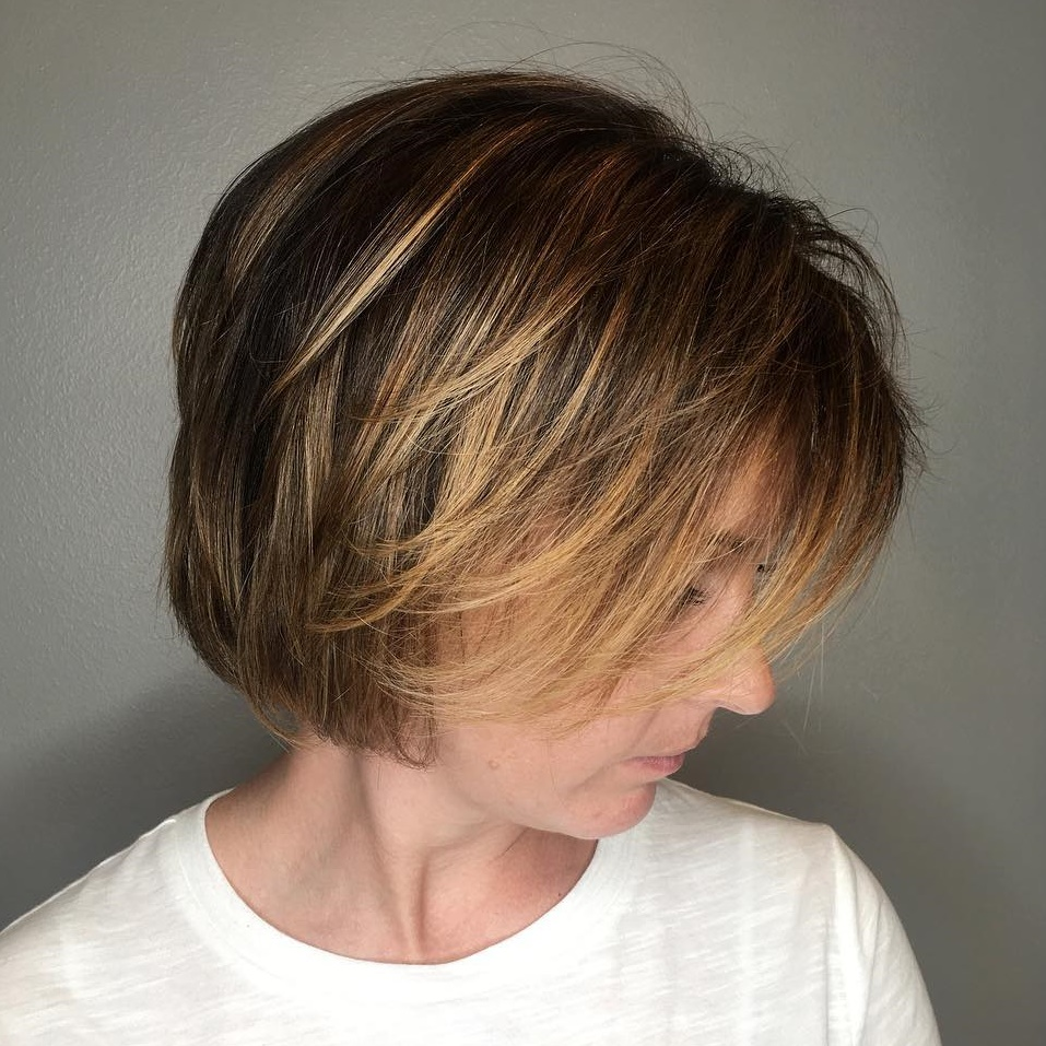 Bob with Longer Layers for Thin Hair
