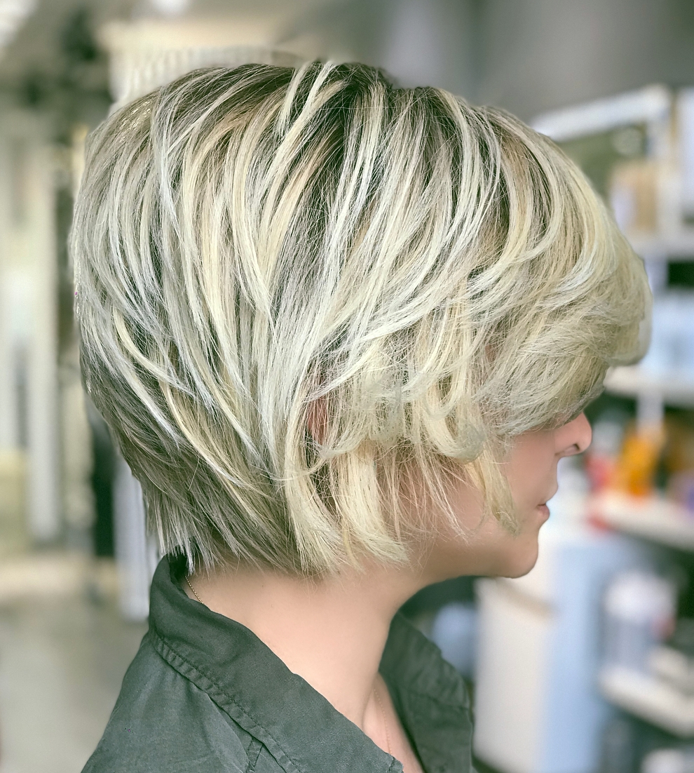 Bob with Textured Layers and Side Part