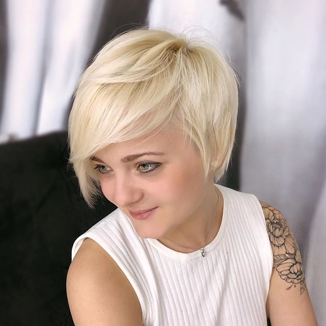 Long Blonde Pixie with Layers