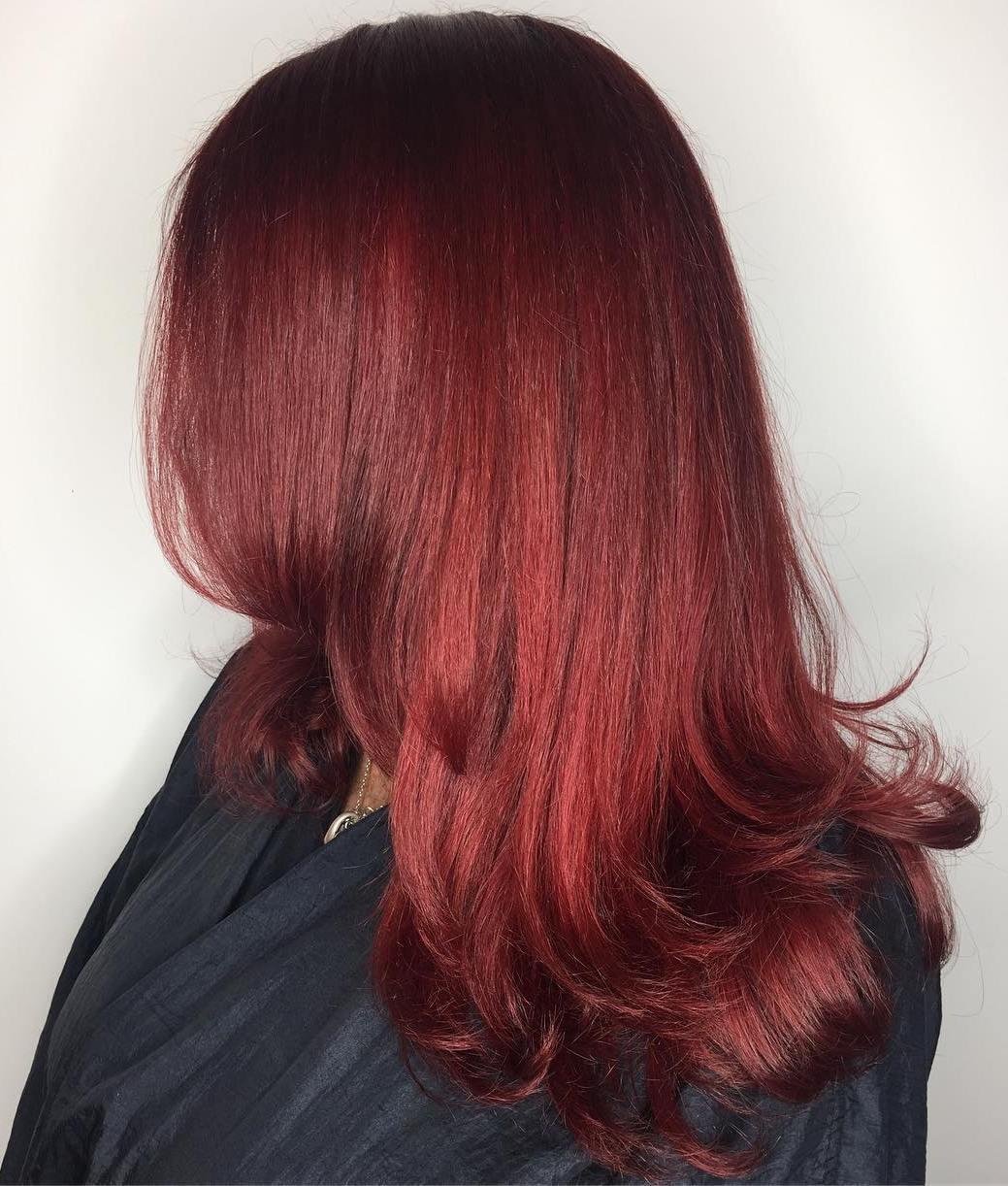 Long Scarlet Red Hair