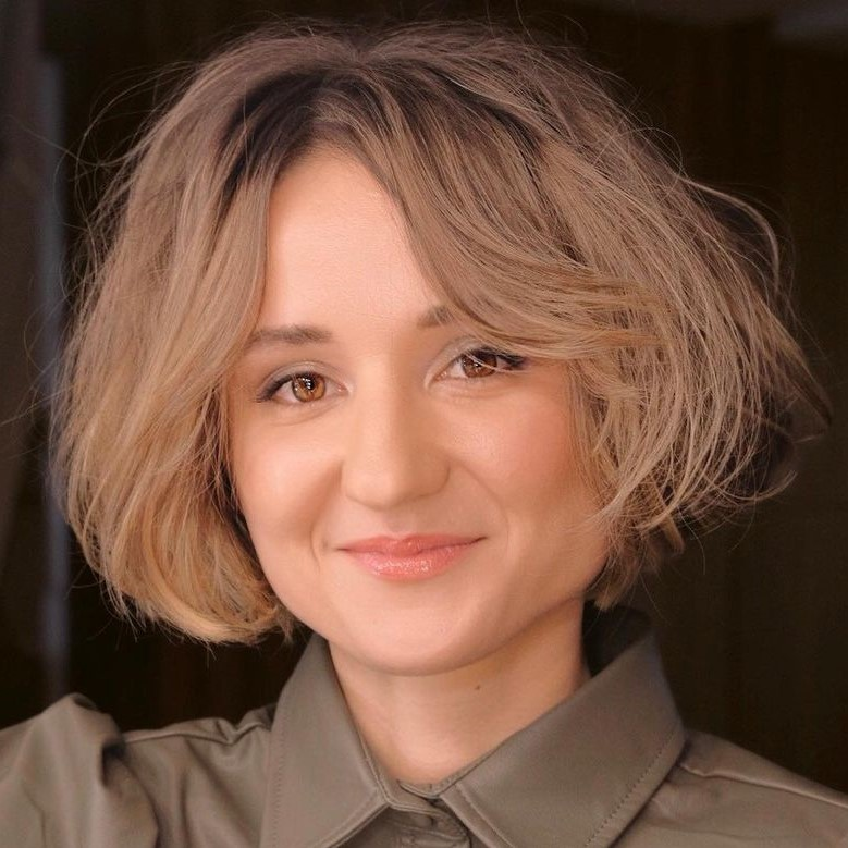 Short Bob for Women with a Square Face