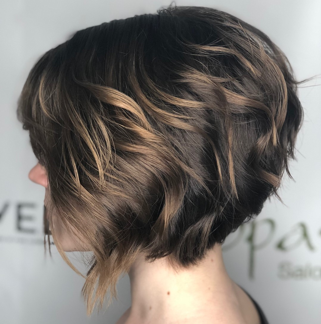 Short Layered Bob for Thick Wavy Hair