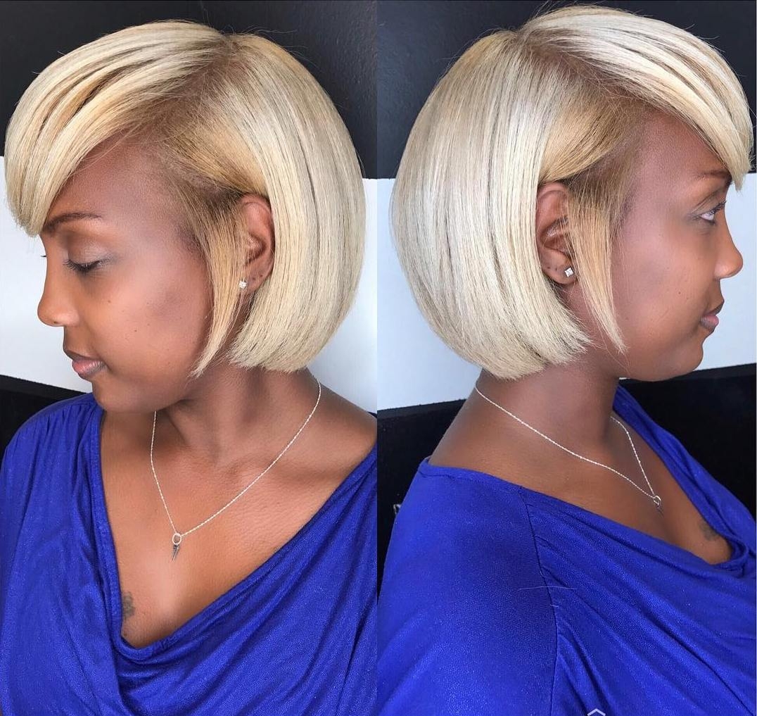 Blunt Blonde Bob for Thick Hair