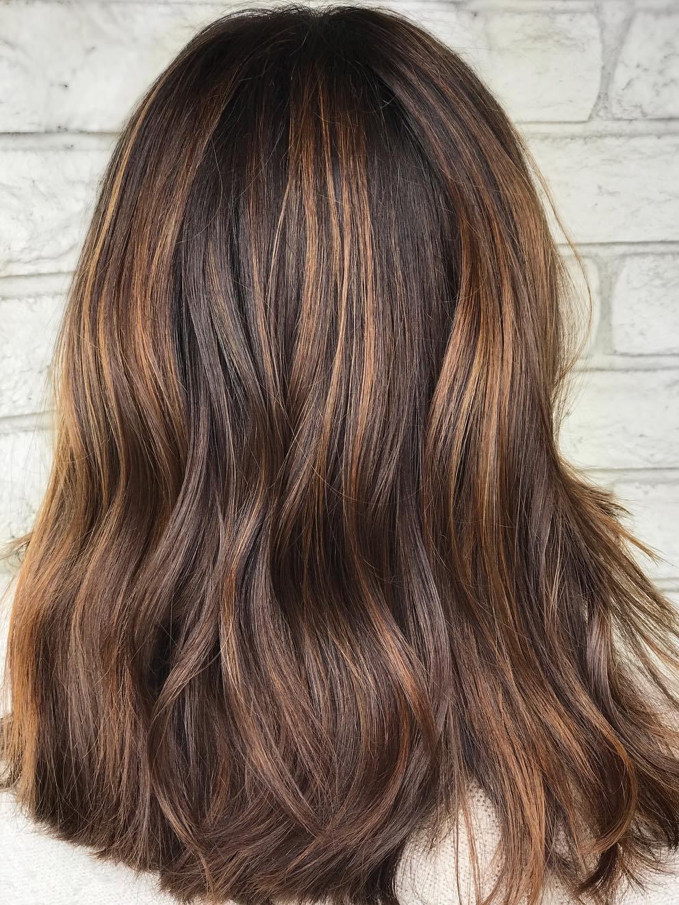 Mocha Hair with Subtle Caramel Highlights