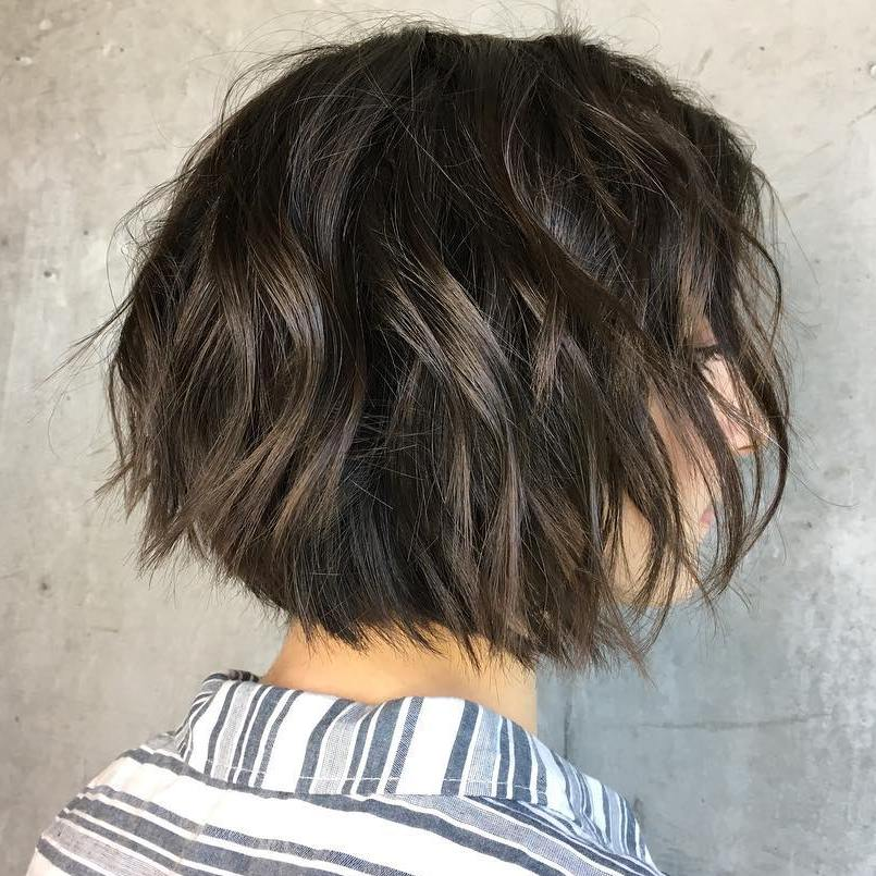 Sexy Messy Layered Bob