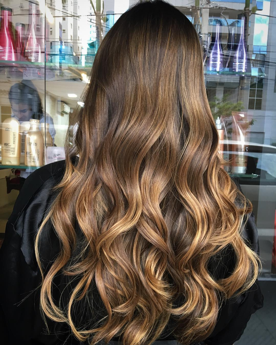 Caramel Brown Balayage Highlights
