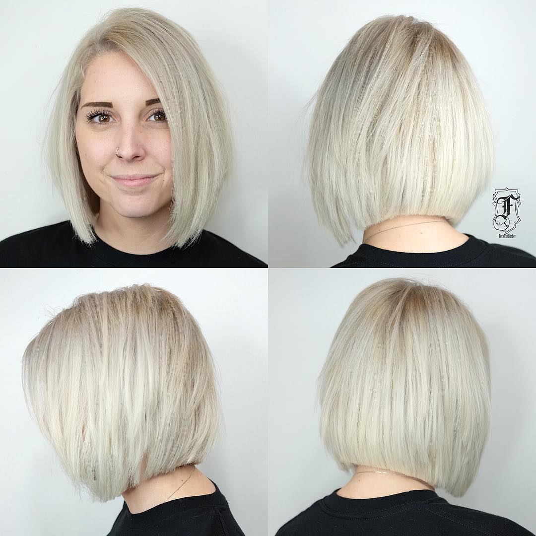 Collarbone Blunt Bob with Choppy Layers
