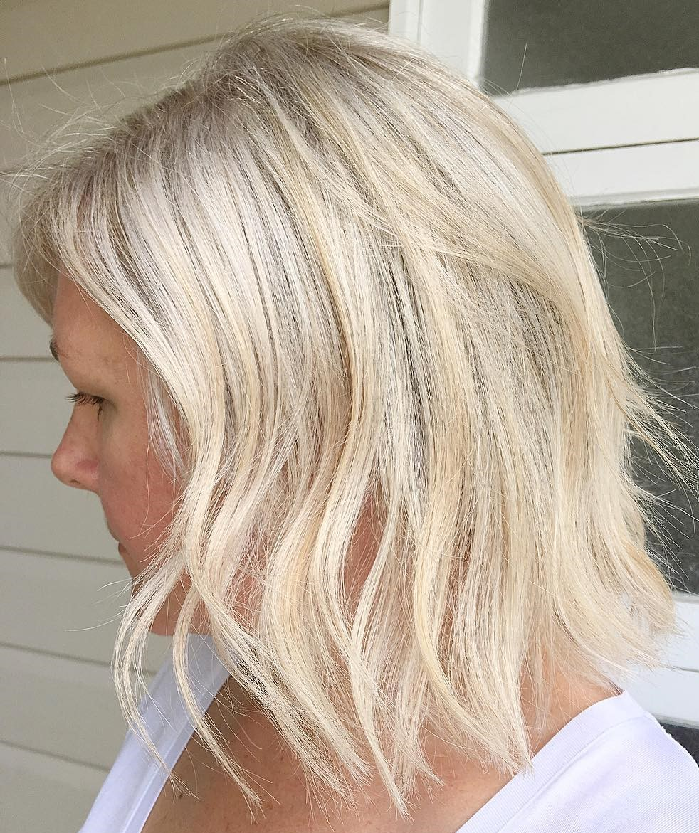 Elegant Blonde Lob for Women Over 50