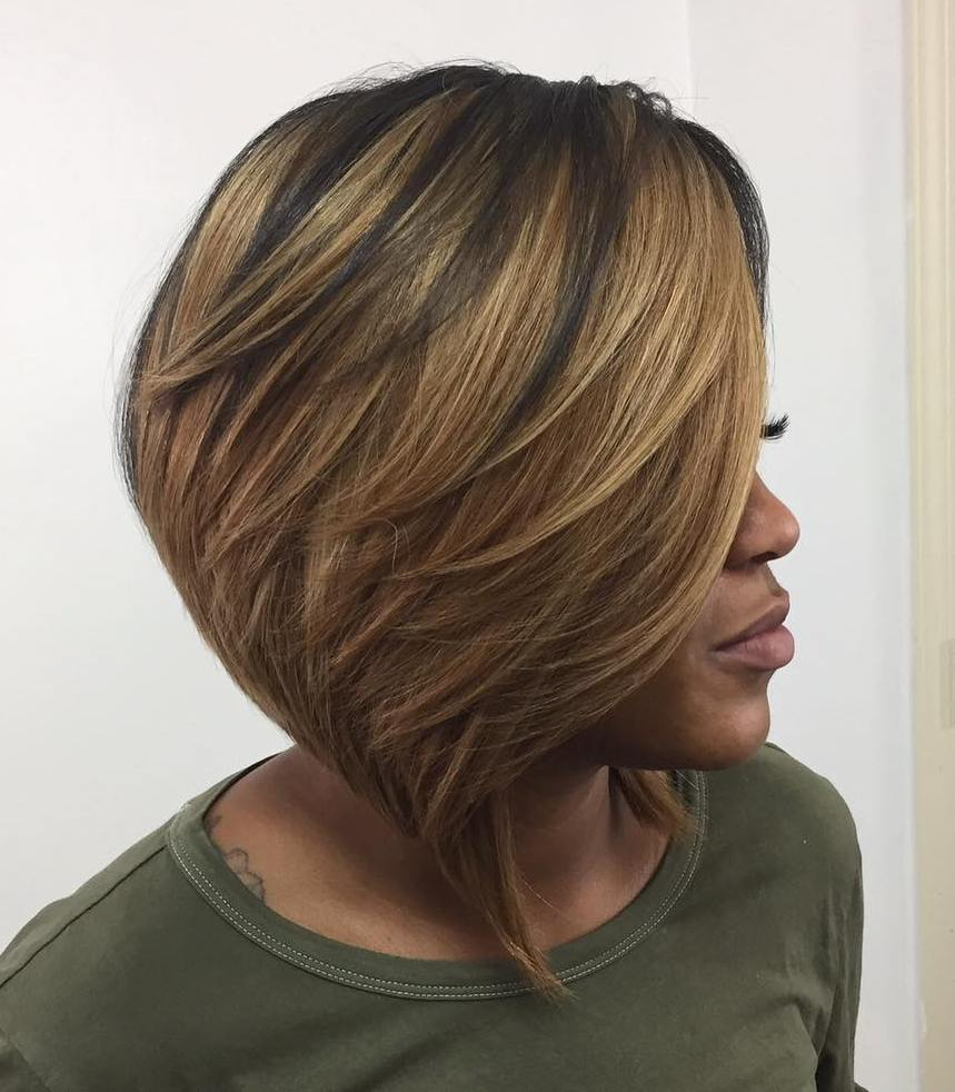 Collarbone Bob with Feathered Layers
