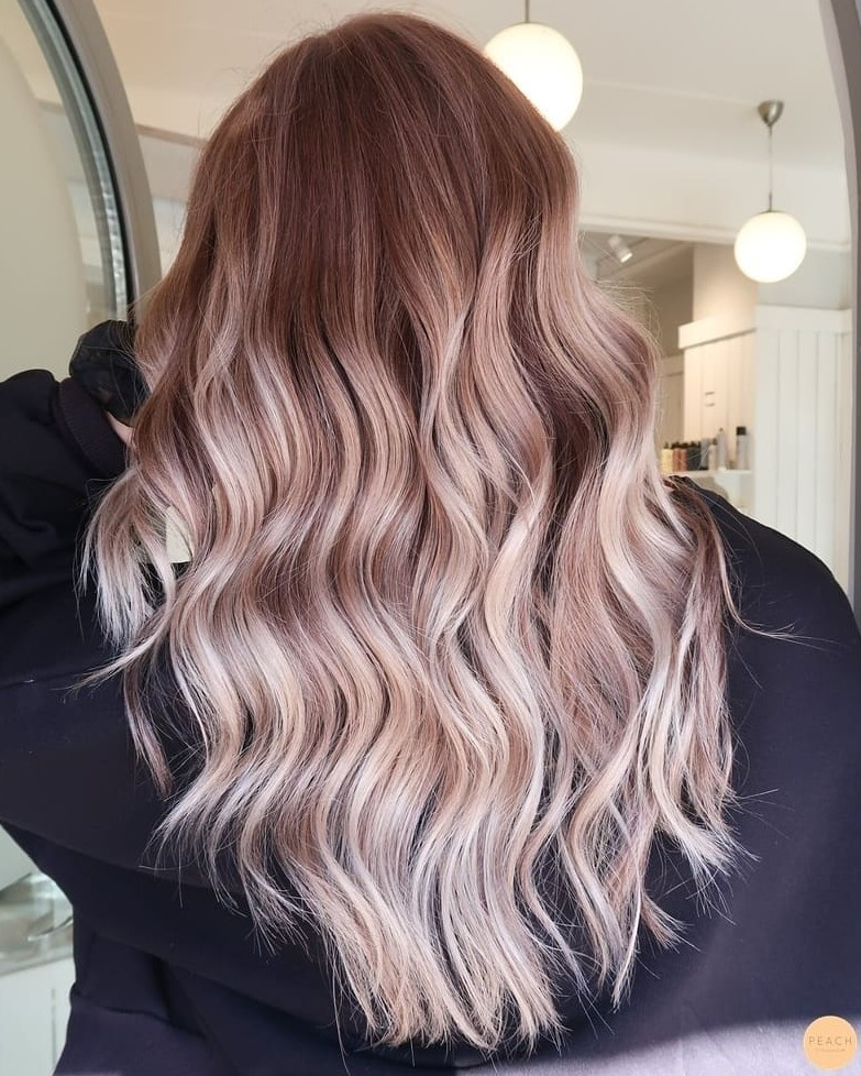 Rose Brown Hair with Highlights