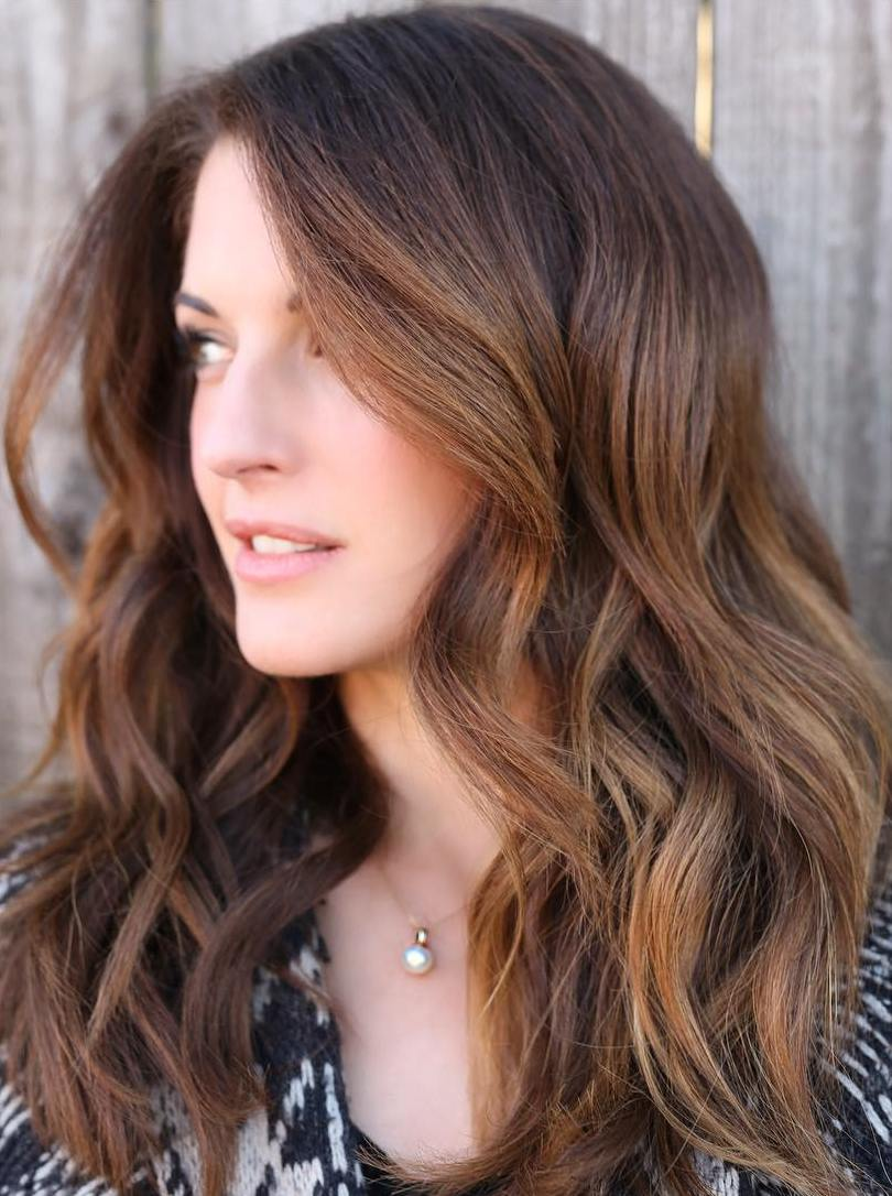 Caramel Brown Hair with Highlights