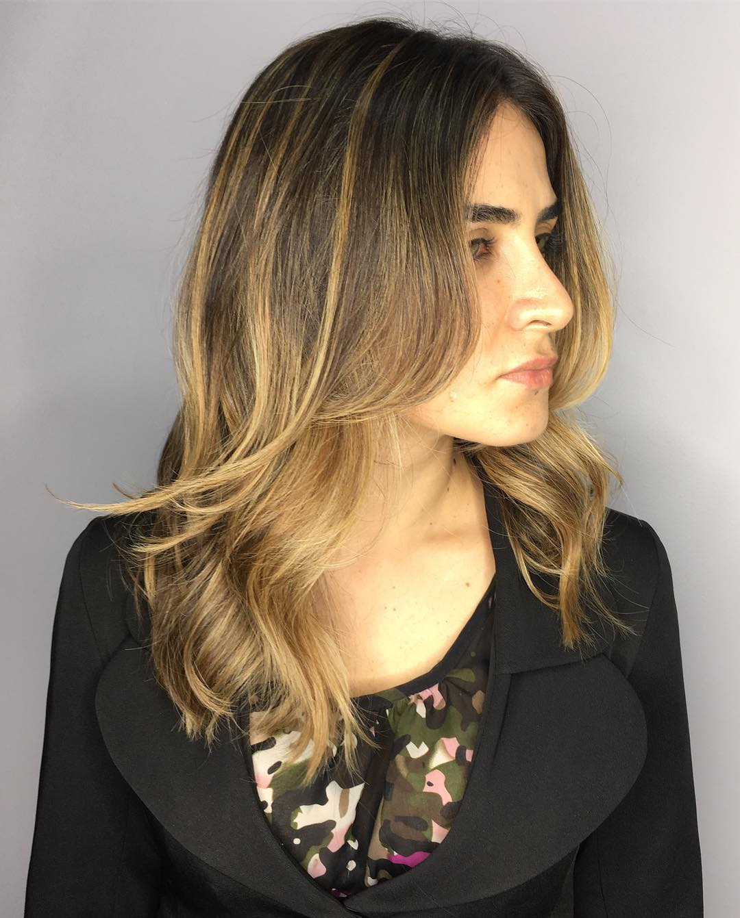 Brown Hair with Toasted Blonde Highlights