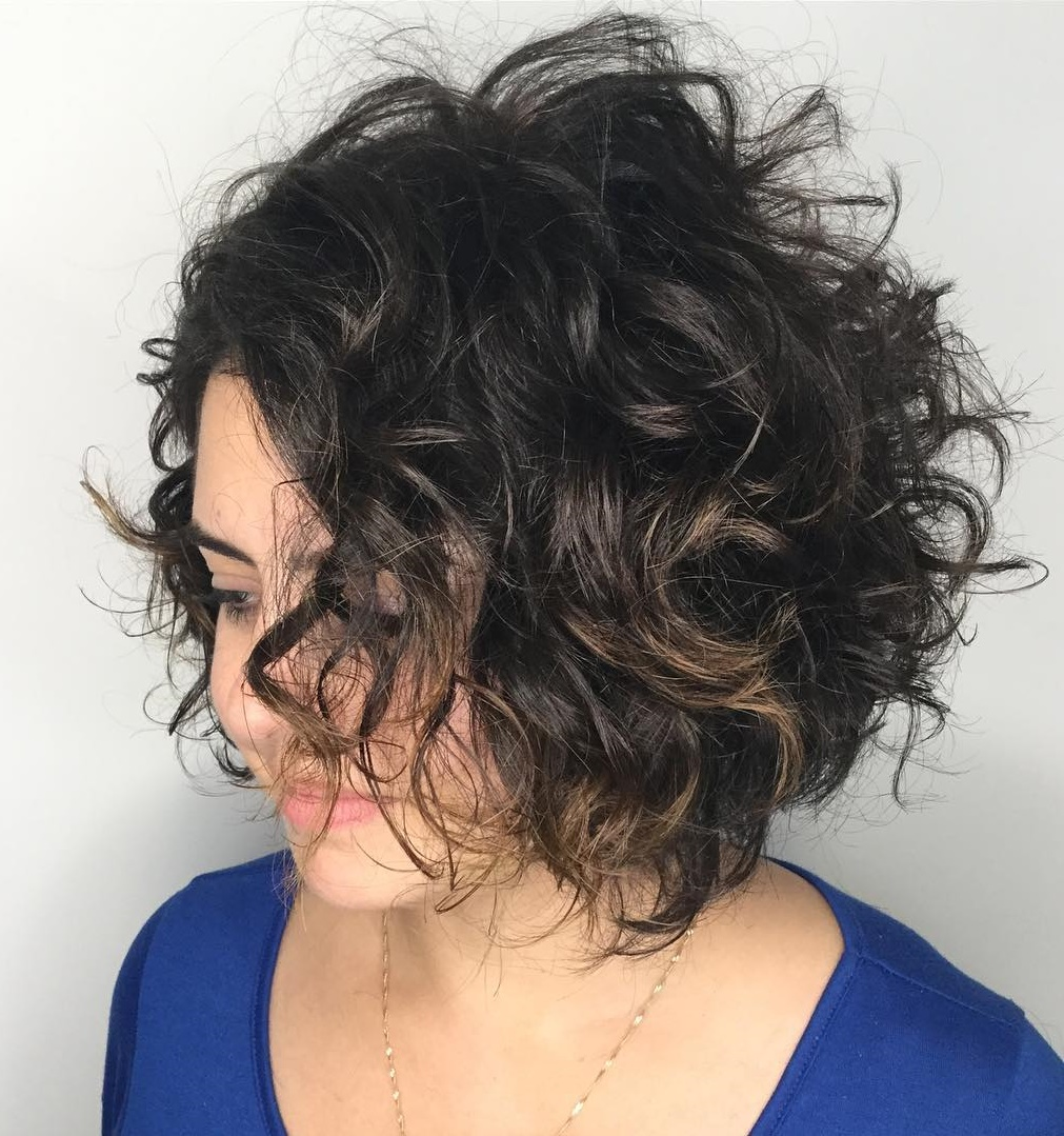 Curly Bob Haircut for Thick Hair