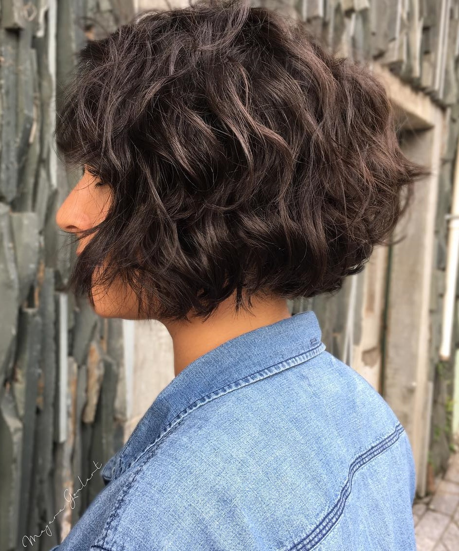 Short Bob for Thick Wavy Hair