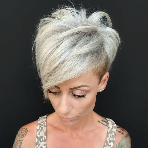 Pixie with Side Undercut and Bangs