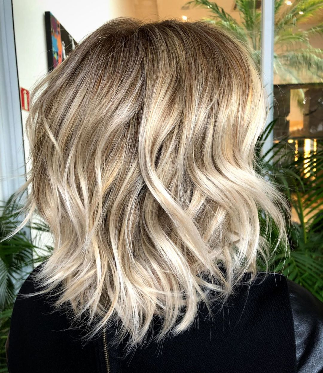 Soft Lob for Thick Wavy Hair